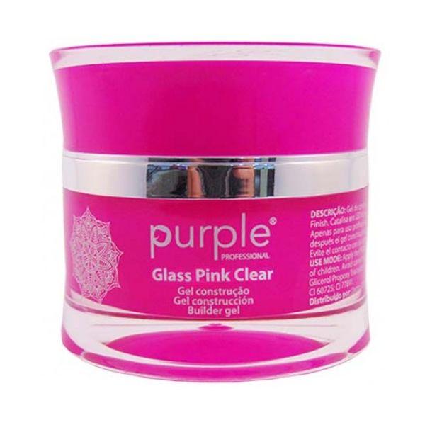 Gel Construtor Purple Tom Glass Pink Clear / Rosa Transparente 15g