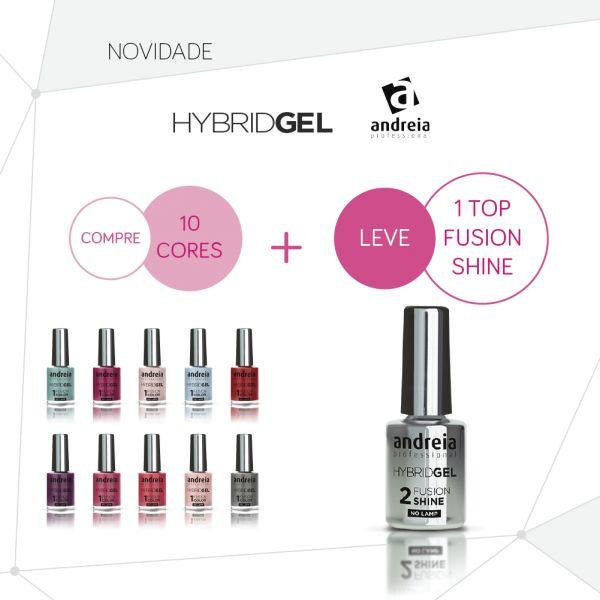 Andreia Hybrid Gel Pack 10 Cores + 1 Top Fusion Shine