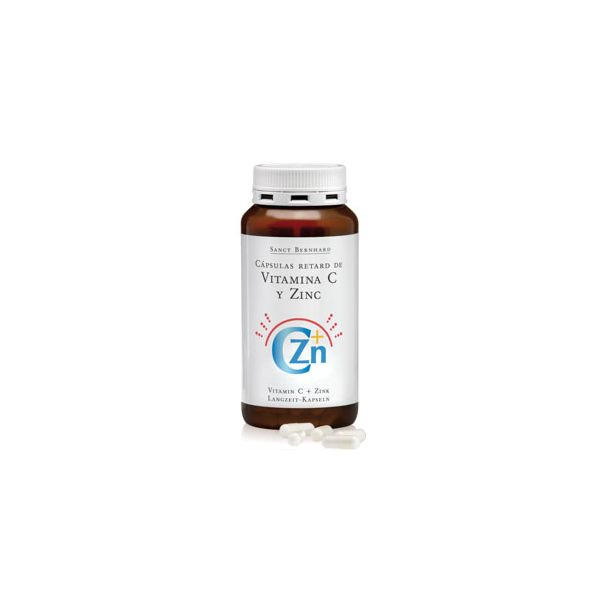Sanct Bernhard Vitamina C + Zinco - Retard 180 Cápsulas