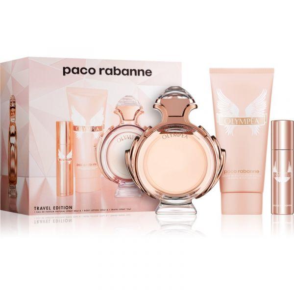 b75444e1a Paco Rabanne Olympea Woman EDP 80ml + EDP 10ml + Body Milk 100ml Coffret