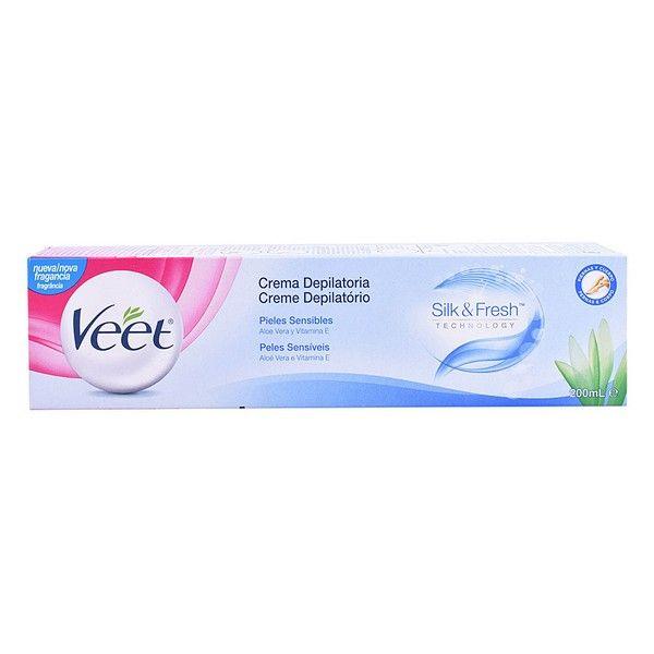 Veet Silk & Fresh Creme Depilatório Pele Sensível 200ml
