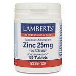 Lamberts Zinc 25mg 120 Comprimidos