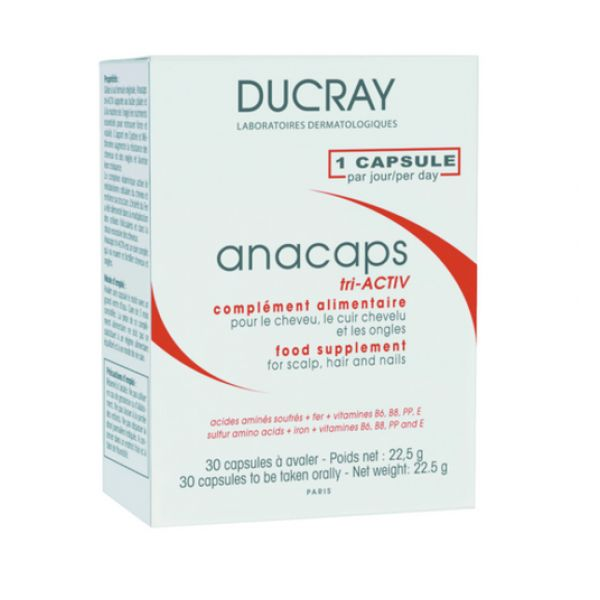 ducray anacaps concentrado 30 c psulas comparador de pre os. Black Bedroom Furniture Sets. Home Design Ideas