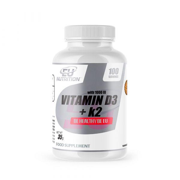 EU Nutrition Vitamin D3 + K2 60 cápsulas