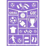 Grimtout Stencil de Caracterização Futebol