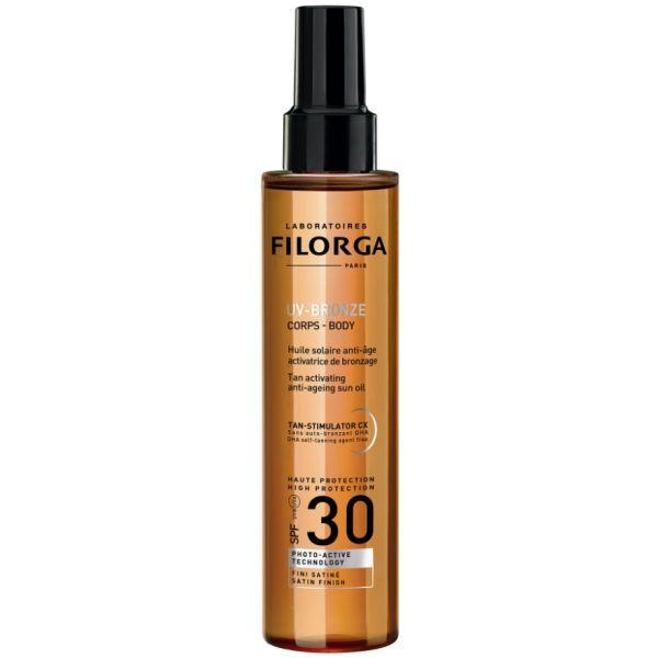 Protetor Solar Filorga UV-Bronze Solar Óleo Anti-idade SPF30 150ml