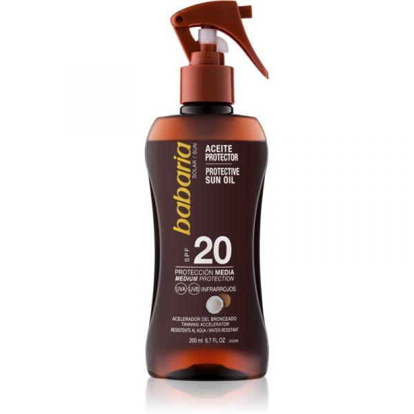 Protetor Solar Babaria Sun Protective Body Oil SPF20 200ml