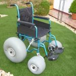 Sunrise Medical Cadeira de Rodas de Praia Beach Easy