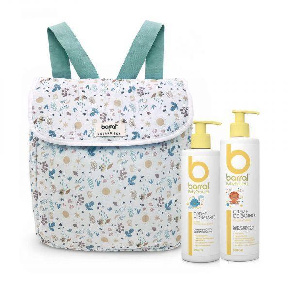 Barral BabyProtect Mochila com Creme de Banho 500ml + Creme Hidratante 400ml