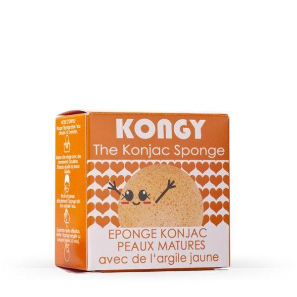 Kongy Esponja Konjac Argila Laranja (Pele Madura e Cansada) 4g