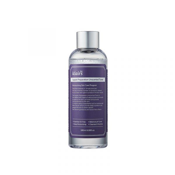 Klairs Supple Preparation Tónico Sem Perfume 180ml