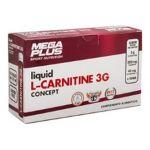 Mega Plus L-Carnitina Concept 3G 14 ampolas de 25ml Frutas Selvagens