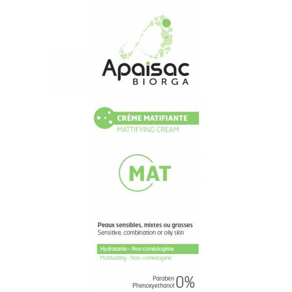 Biorga Apaisac Mat Creme Matificante 40ml