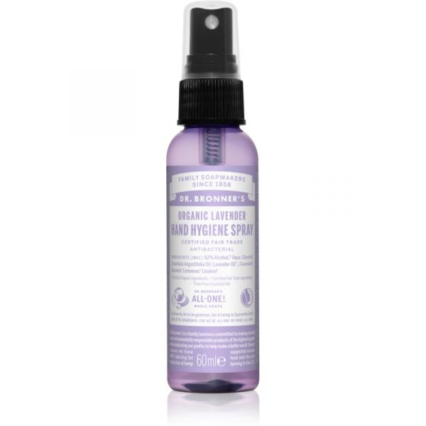 Dr. Bronner's Lavender Spray de Limpeza Sem Enxaguar para Mãos 60ml