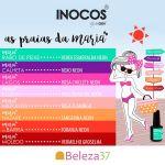 """Inocos Verniz Gel Coleção """"As Praias da Maria"""" (8 Cores 15ml)"""
