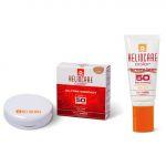 Protetor Solar Heliocare Gel Cor Brown SPF50 50ml + Compacto Oil Free SPF50 Claro e Escuro 2x2.5g