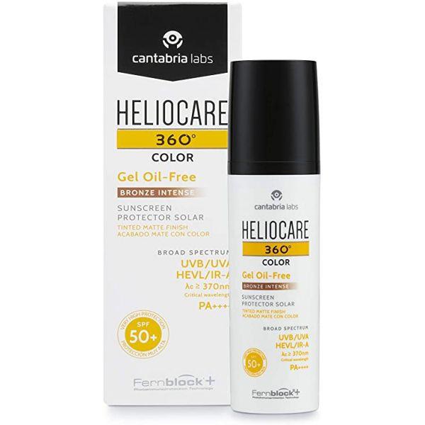 Protetor Solar Heliocare 360º Gel Oil-Free Cor Bronze Intense SPF50+ 50ml