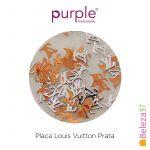 Purple Efeitos para Nail Art Louis Vuitton Prata