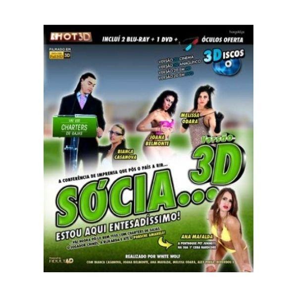 HotGold Blu-Ray + DVD Sócia + 3D Sócia, Estou Aqui Entesadíssimo! - EP04908SF