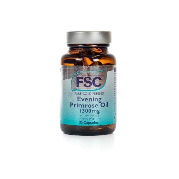 FSC Evening Primrose Oil 1300mg + Vitamina E 30 cápsulas