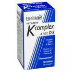 Health Aid Vitamina K Complex com Vitamina D3 30 Comprimidos