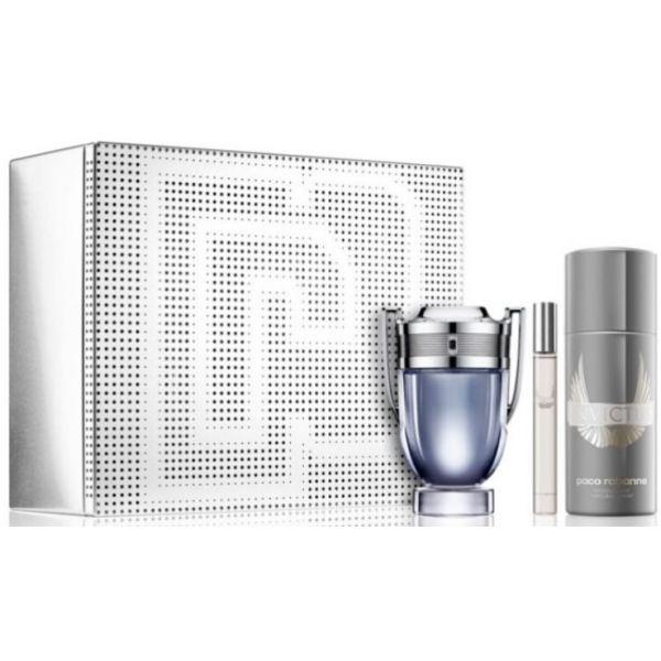 Paco Rabanne Invictus EDT 50ml + EDT 10ml + Desodorizante Spray 150ml Coffret