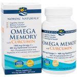 Nordic Naturals Omega Memory com Cúrcuma 60 Cápsulas