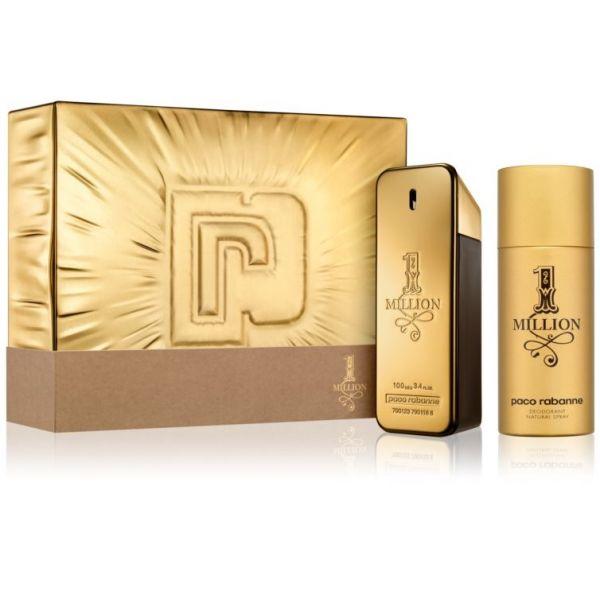 Paco Rabanne 1 Million EDT 100ml + Desodorizante Spray 150ml Coffret