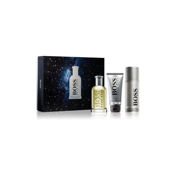 Hugo Boss Boss Bottled EDT 100ml + Gel de Banho 100ml + Desodorizante Spray 150ml Coffret
