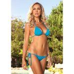 Leg Avenue Spandex Bikini Set With Wide Side Ties Turquoise 72719