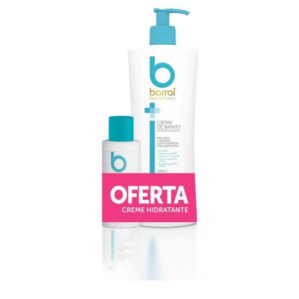 Barral DermaProtect Creme de Banho Dermatológico 500ml + Creme Hidratante 100ml