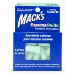 Mack's Tampões Auriculares Espuma Ruído 5 pares