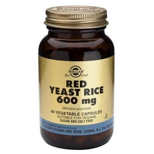 Solgar Red Yeast Rice 600mg 60 Cápsulas