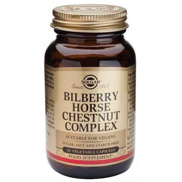 Solgar Bilberry Horse Chestnut Complex 60 Cápsulas