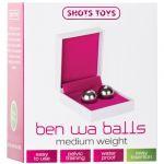 Shots Toys Bolas Vaginais Ben Wa Balls Medium Silver