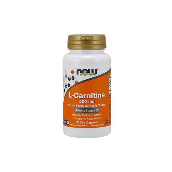 Now L-Carnitine 500mg 60 cápsulas