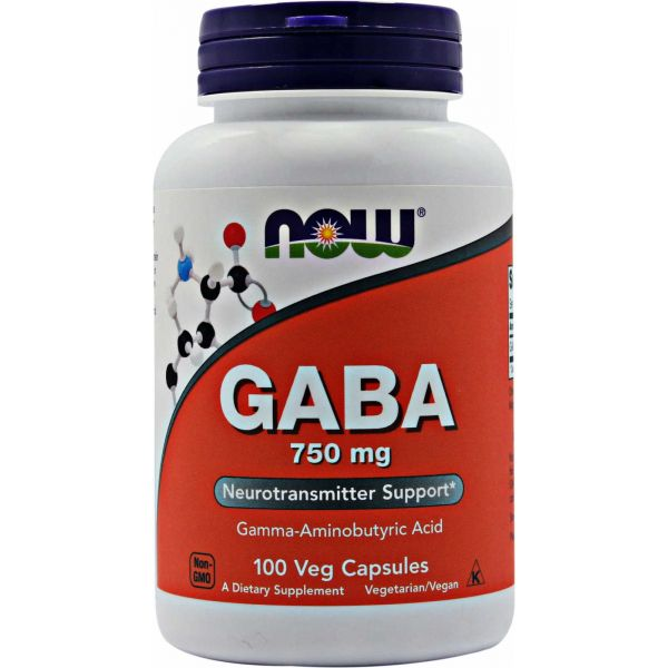 Now GABA 750mg 100 cápsulas
