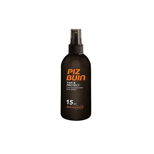 Protetor Solar Piz Buin Tan & Protect Spray Solar Intensificador de Bronzeado SPF15 150ml