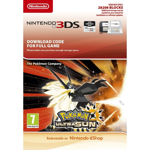 Jogo Pokémon Ultra Sun Nintendo eShop Download Digital 3DS