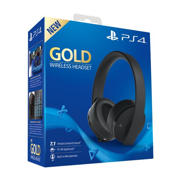 Sony Headset Gaming Wireless Gold PS4