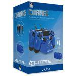 4Gamers Carregador de Comandos DualShock 4 Blue PS4
