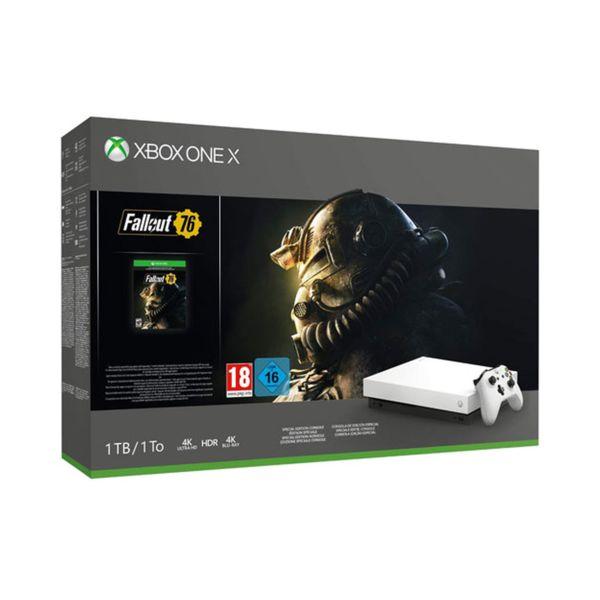 Microsoft Xbox One X White 1TB + Fallout 76