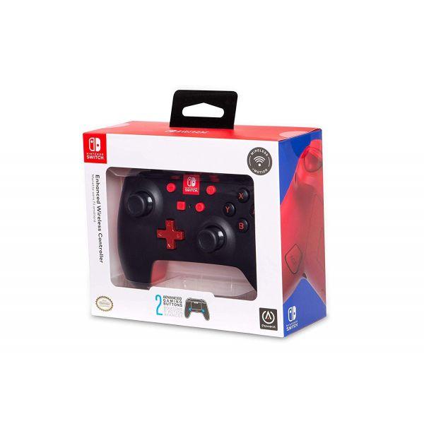 PowerA Comando sem fios Nintendo Switch Preto/Vermelho
