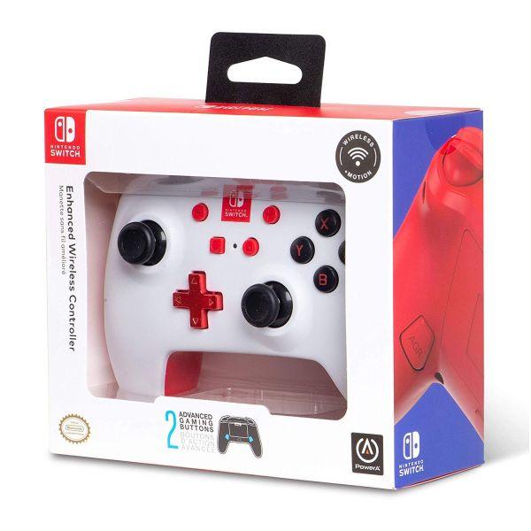 PowerA Comando sem fios Nintendo Switch Branco/Vermelho