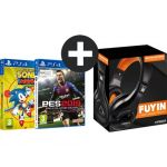 Eco Play Pack Indeca Auscultadoes + PES 2019 + Sonic Mania