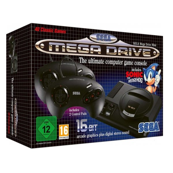 Consola SEGA Mega Drive Mini - inclui Sonic the Hedgehog