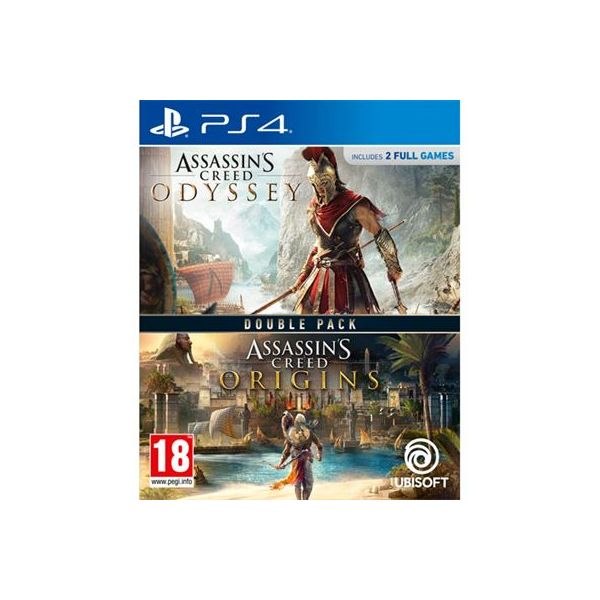 Jogo Assassin's Creed Odyssey + Assassin's Creed Origins Double Pack PS4