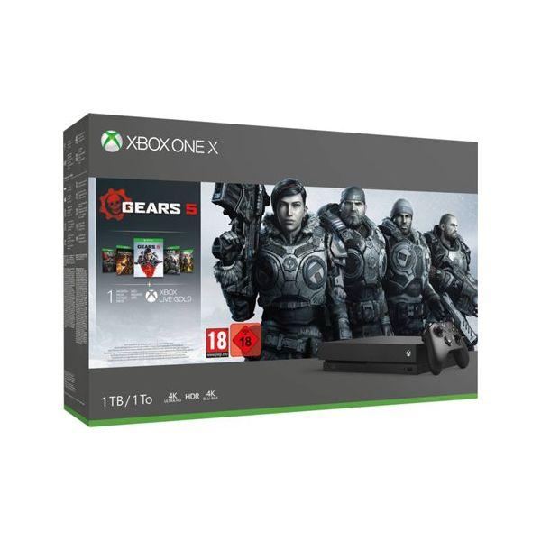 Consola Microsoft Xbox One X 1TB Black + Gears of War 5