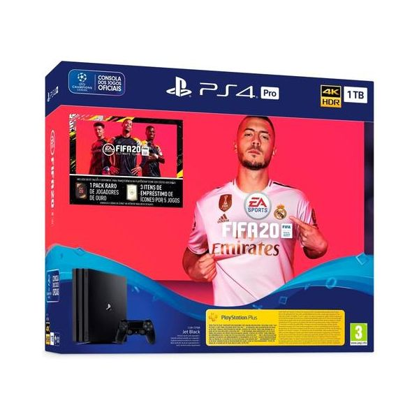 Consola Sony PlayStation 4 PS4 Pro 1TB + FIFA 20