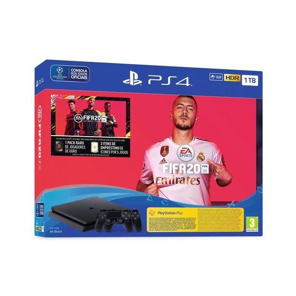 Consola Sony PlayStation 4 PS4 1TB + 2x DualShock 4 + FIFA 20